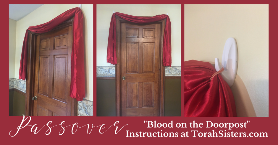 """Blood on the Doorpost"" Passover Decoration"