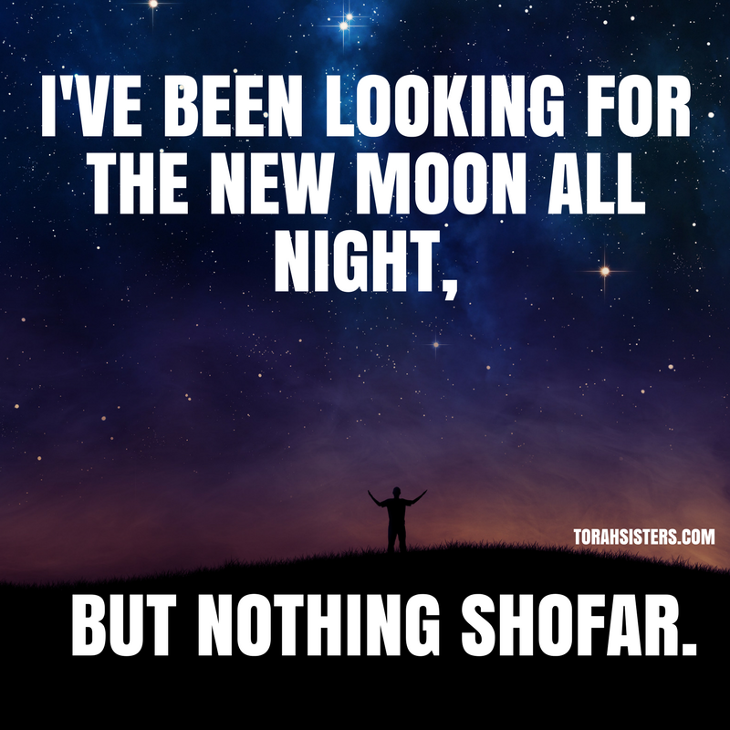 I've been looking for the new moon all night,
