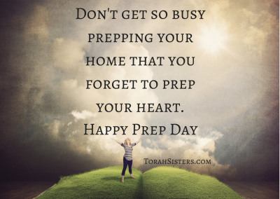 Don't get so busy prepping your home that you forget to prep your heart.