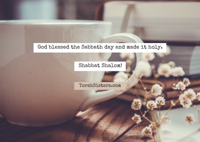 God blessed the Sabbath day and made it holy.