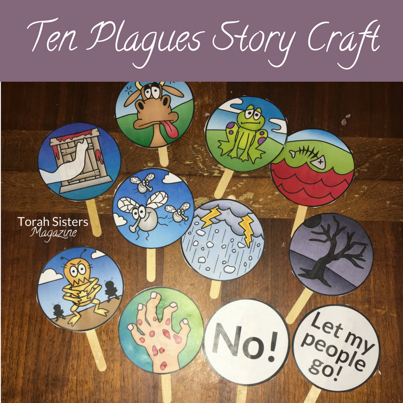 Ten Plagues Craft Printable 2017