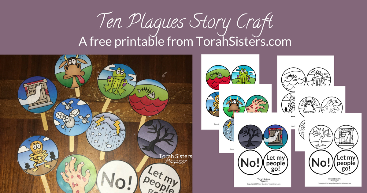 photo regarding 10 Plagues Printable named 10 Plagues Pover Craft in direction of Hold Youngsters Engaged - Torah Sisters