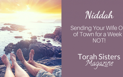 Niddah – Sending Your Wife Out of Town for a Week–NOT!