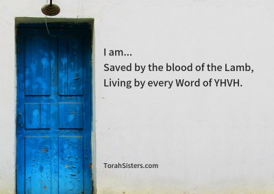 Saved by the blood of the Lamb,